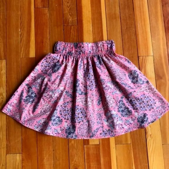 H&M XS Cotton Floral Flare Skirt